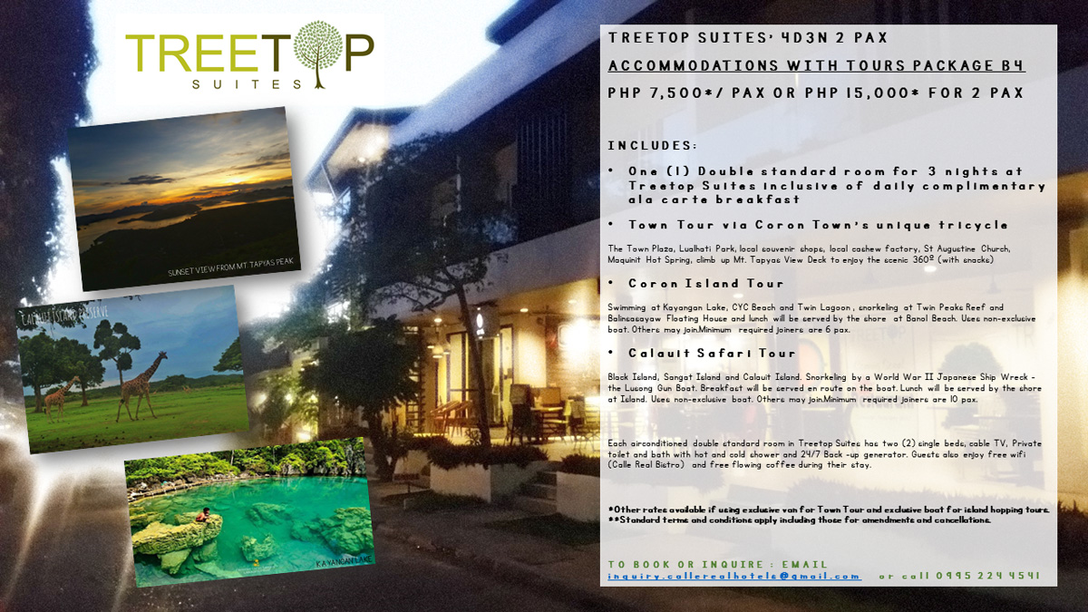 treetop suites tour package b4